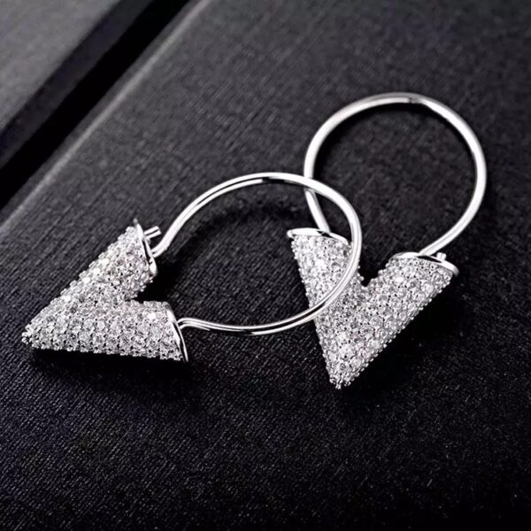 Glam V-Earrings Silver-2685