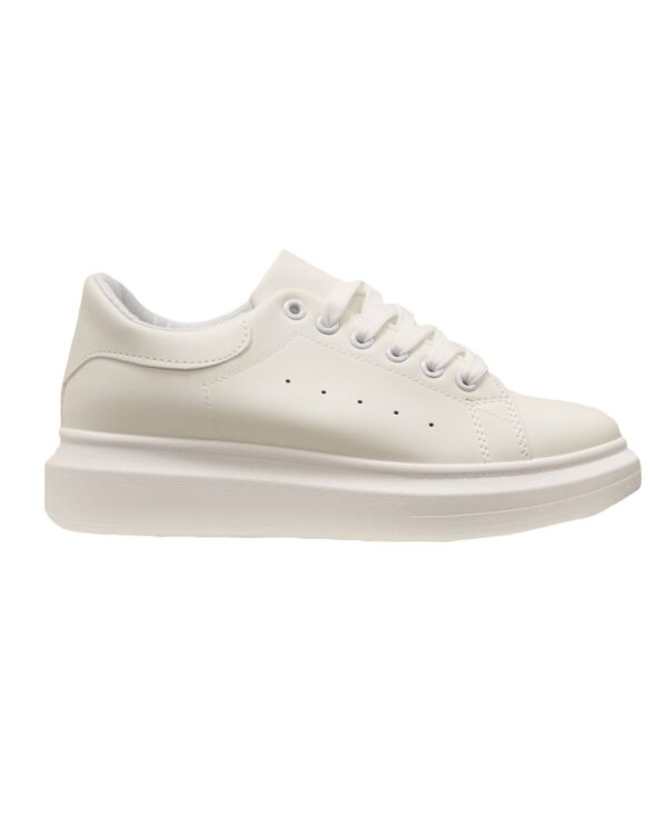 All White Trendy Sneakers-0