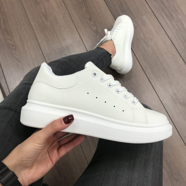 All White Trendy Sneakers-3211