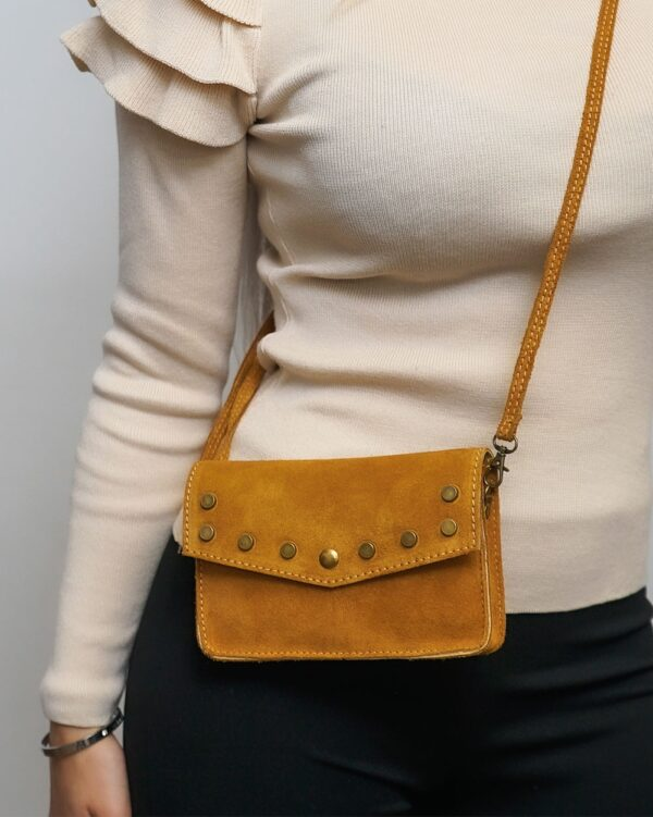 Suede Shoulder Bag-0