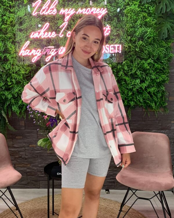 Checked Blouse Pink-4903