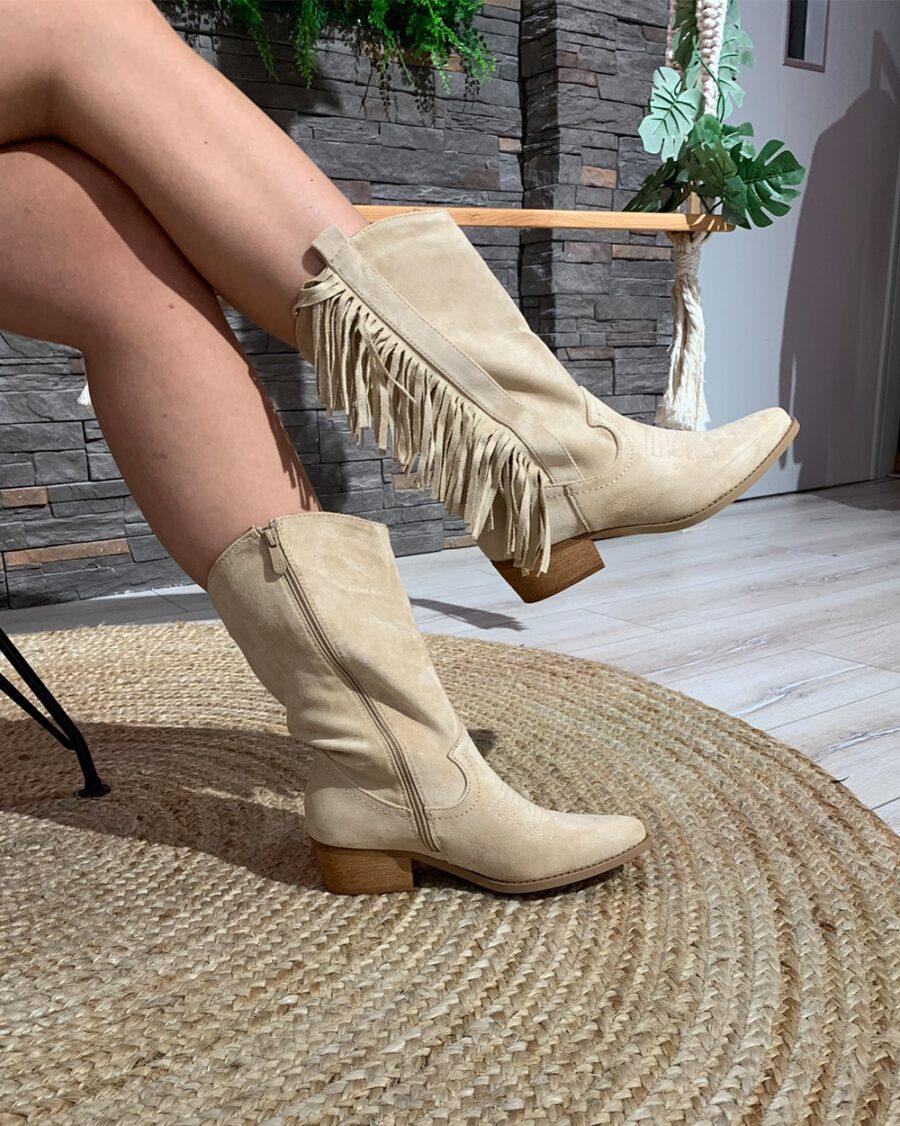 Cowboy Boots Khaki Suede-5162