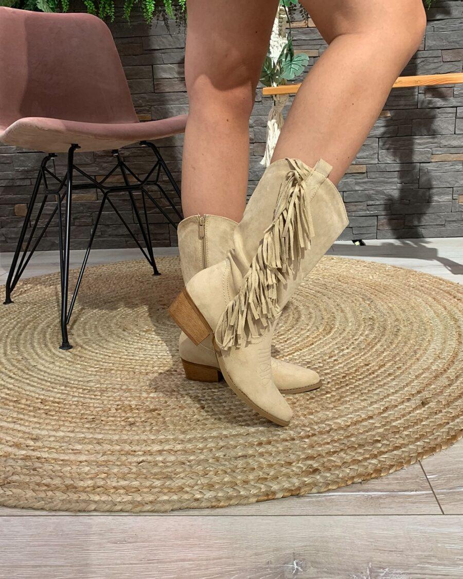 Cowboy Boots Khaki Suede-5163