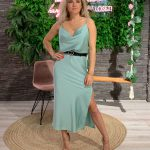Silk Dress Mint Green-0
