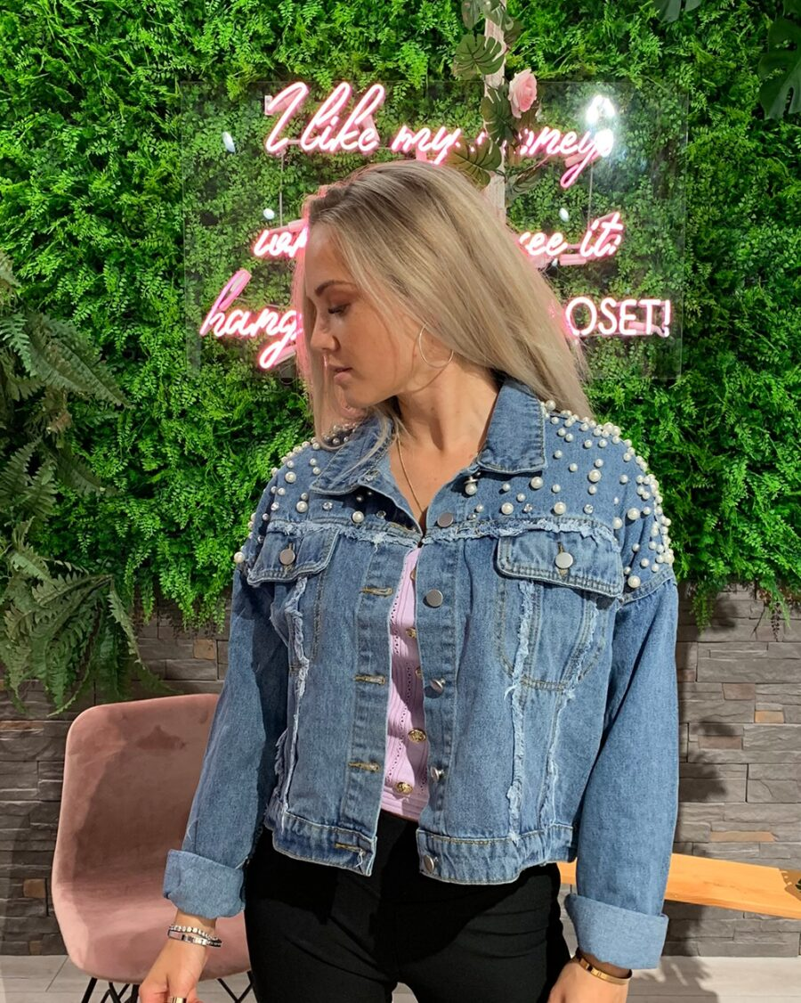 Jeans Jacket Beads-5055