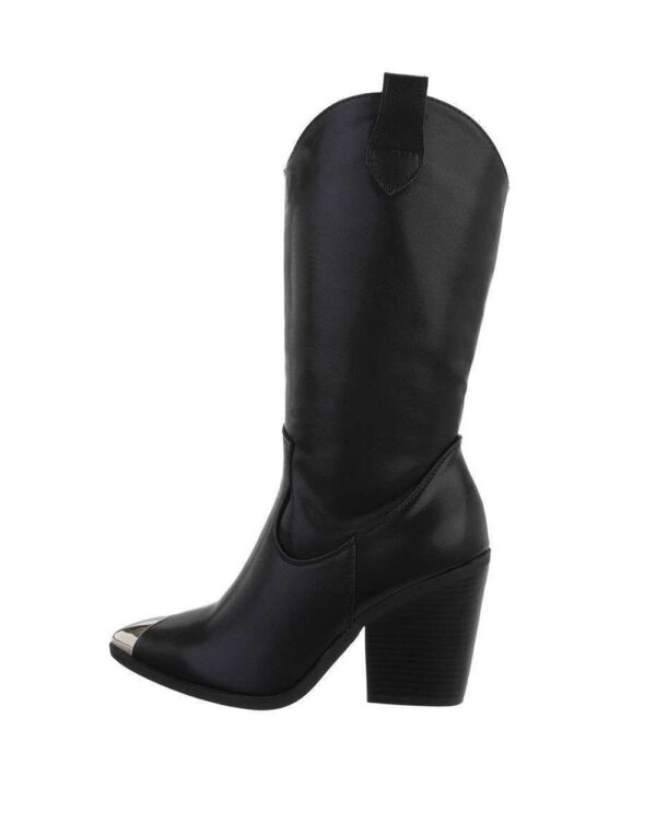 Cowboy Boots High Steel Front Black-0