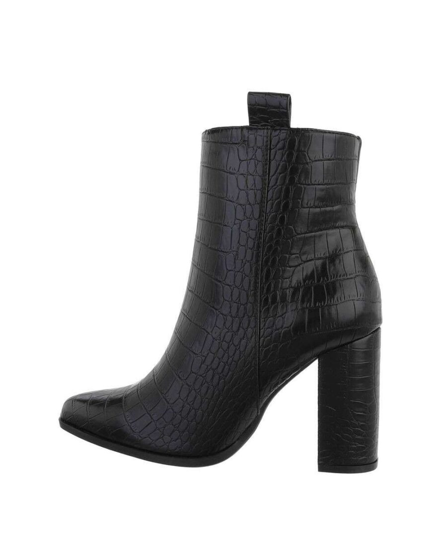 Croco Ankle Boots Black-0