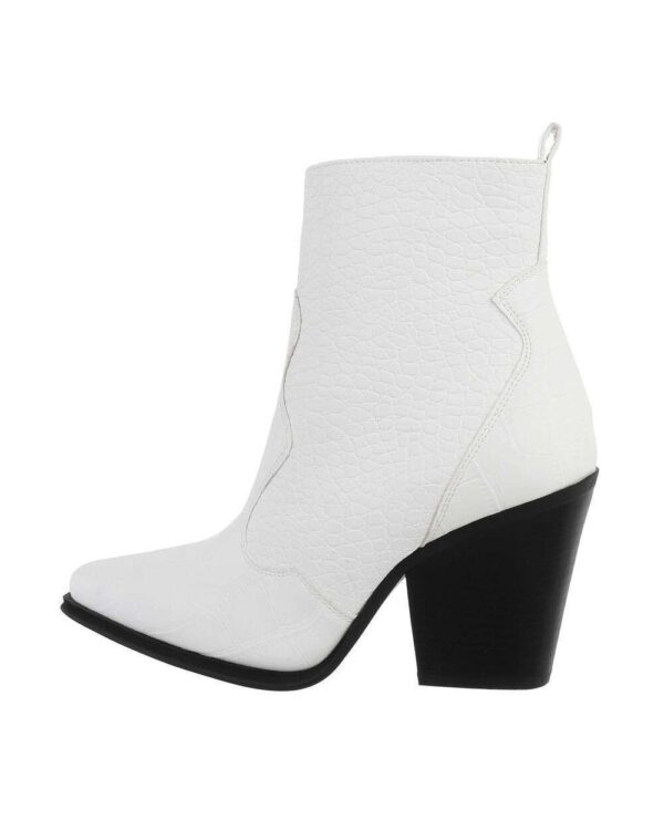 Croco Western Boots Low White-0
