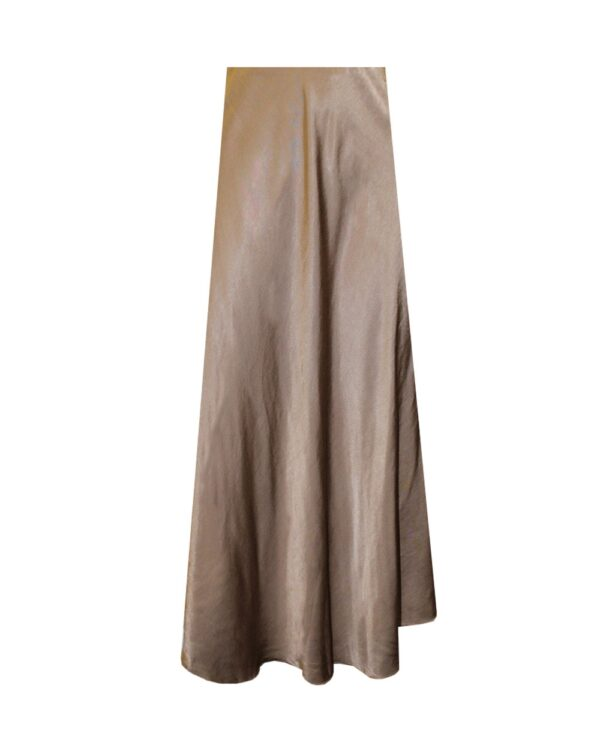 Silk Skirt Brown -5355