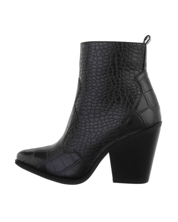 Croco Western Boots Low Black-0