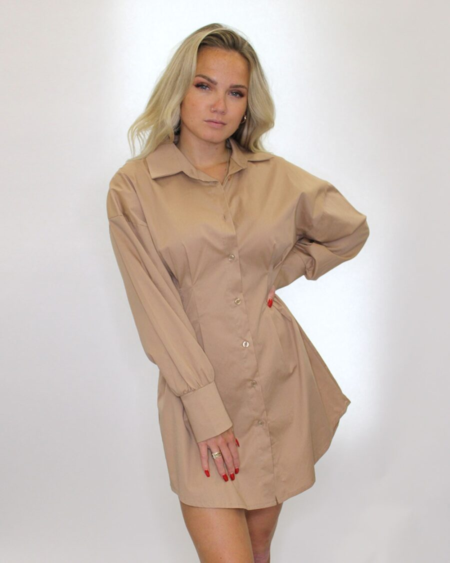 Fitted Blouse Beige-5630