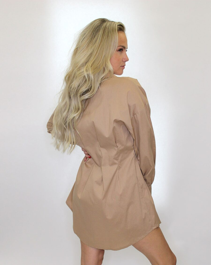Fitted Blouse Beige-5631