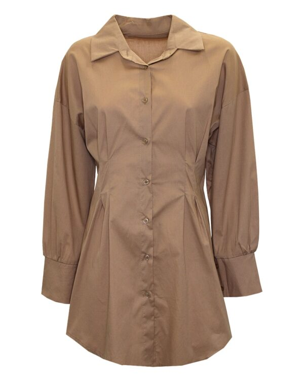 Fitted Blouse Beige-0