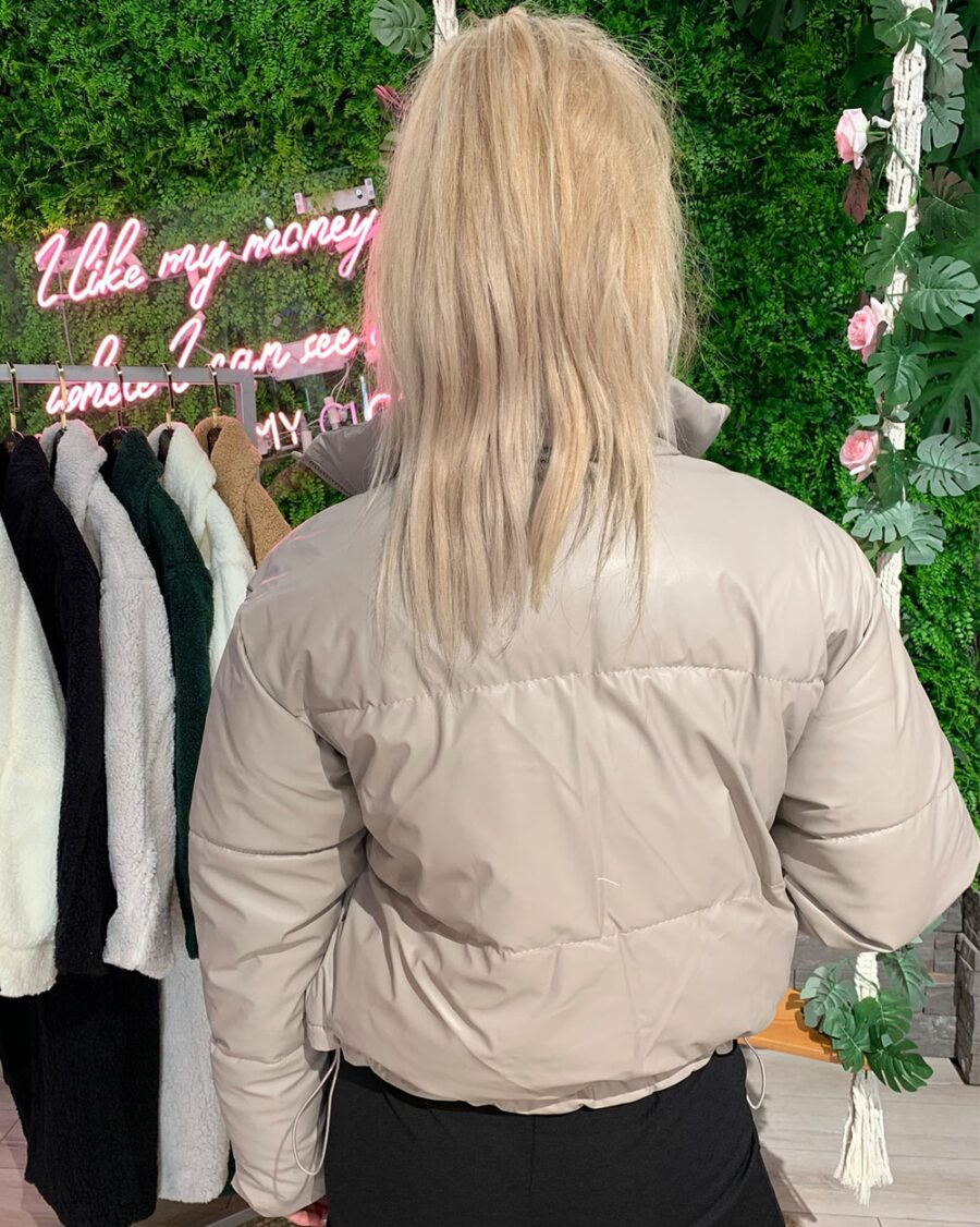 Bomber Jacket Special Edition PU Nude-5515