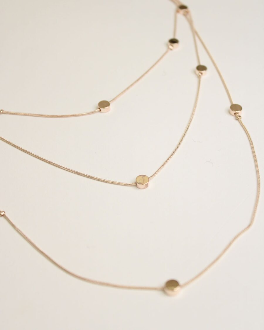 Necklace Orchid Rosegold-5810