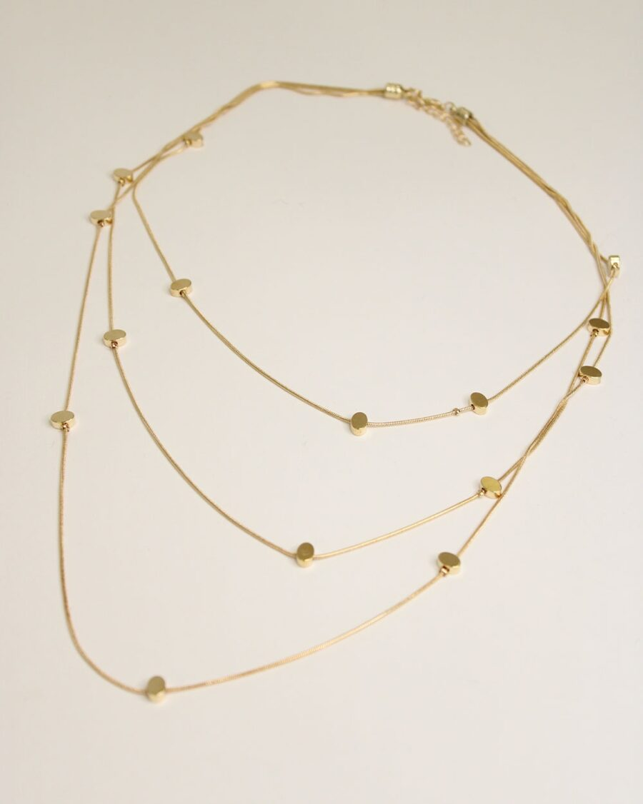 Necklace Orchid Gold-5808