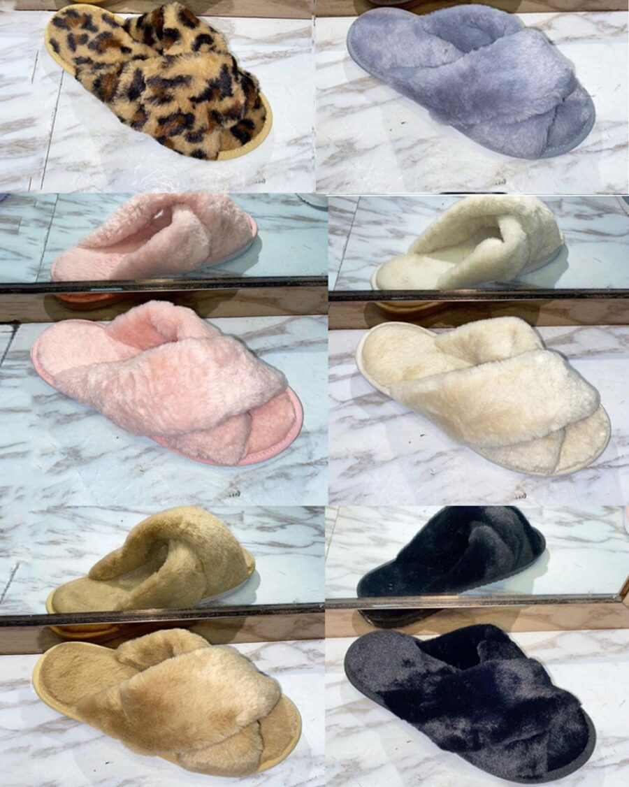 Furry Slides Felice -6049