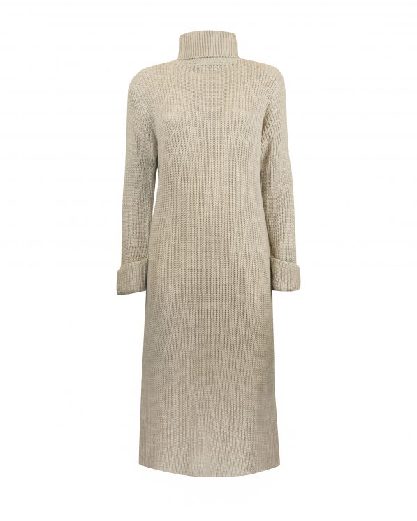 Turtleneck Dress Olivia Beige-0