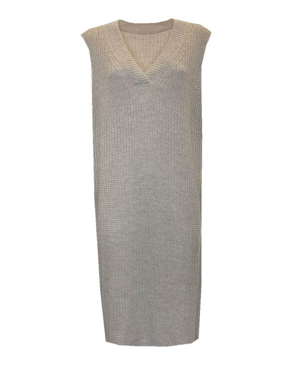 Spencer Dress Beige -0