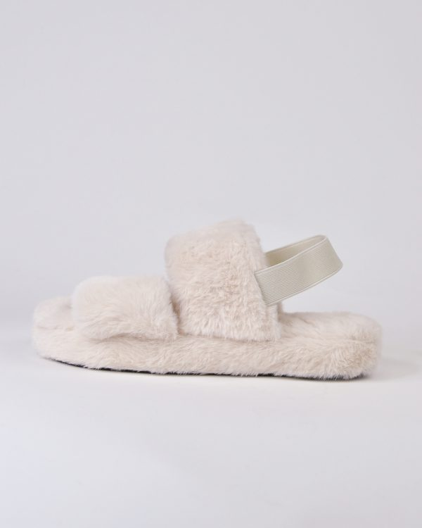 Furry Slides Nina Ivory-6387