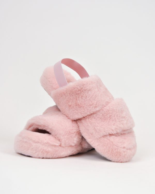Furry Slides Nina Pink -0