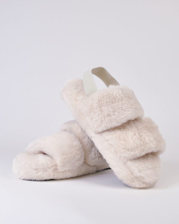 Furry Slides Nina Ivory-0